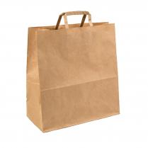 Lg Flat Handle Carry Bag Brown