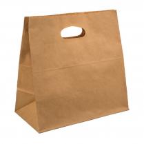 Sm D Handle Carry Bag Brown