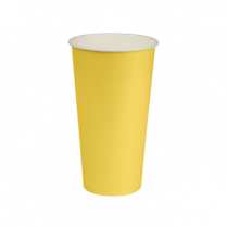 22oz/650mL Cold Cup Yellow