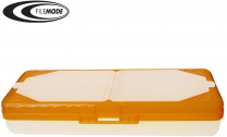 PENCIL BOX 14x5-1/2 ASSORTED WITH ORGANIZER IN LID