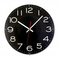 "WALL CLOCK TIMEKEEPER 11.5"" BLACK"