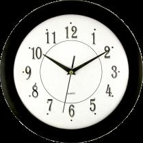 "WALL CLOCK TIMEKEEPER 12"" BLACK ROUND"