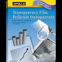 OHP FILM APOLLO WRITE-ON 100/BOX CLEAR