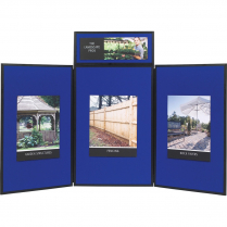 "SHOWBOARD 3-PANEL TABLETOP DISPLAY 72""Wx36""H BLUE/GREY"