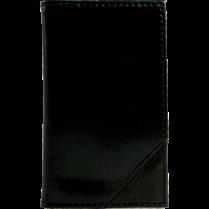 BUS CARD HOLDER LEATHER 4x2.5 BLACK 48-CARD CAPACITY