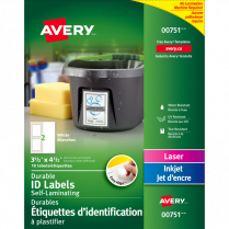 AVERY ID LABELS 3.5x4.5 10/PKG EASY ALIGN SELF-LAMINATING