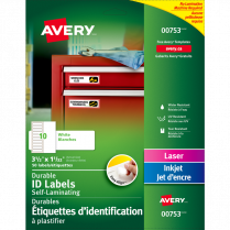 AVERY ID LABELS 3.5x1-1/32 50P EASY ALIGN SELF-LAMINATING