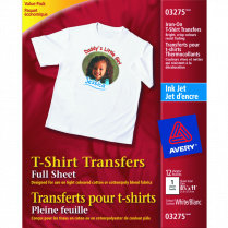 T-SHIRT TRANSFER AVERY WE 12/PACK