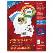 IRON-ON TRANSFER STRETCHABLE 5 PACK