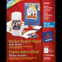 STICKER PAPER AVERY 15SHEETS