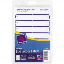LABEL F/FLDR DARK BLUE 248