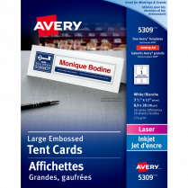 TENT CARDS LASER 3.5x11 50/BOX
