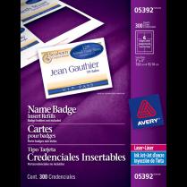 NAME BADGE CARD RFLS 4x3 300/BOX AVERY