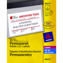 LABELS PERM ID 8-1/8x5 30/PACK