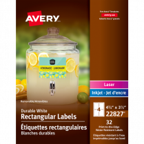 RECT LABELS 4.75x3.5 REMOV WHT AVERY PRINT-TO-THE-EDGE 32/PK