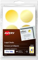AVERY LEGAL SEALS GOLD 60/PKG