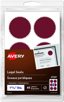 AVERY LEGAL SEALS RED 60/PKG