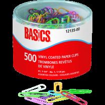 "PAPER CLIPS BASICS VINYL #1 1-1/4"" 500/TUB"
