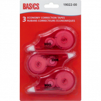 CORRECTION TAPE BASICS 3/PACK MULTIPAK
