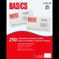 BUSINESS CARDS BASICS 250/PACK LASER/INKJET