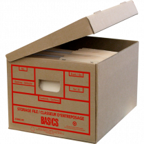 STORAGE BOX BASICS 1PC 25/PACK LTR/LGL