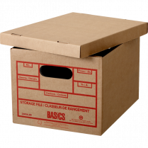 STORAGE BOX BASICS 100 REC 6P RECYCLED 6/PACKG