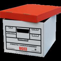 STORAGE BOX BASICS 2PC 12/CASE RECYCLED LTR/LGL