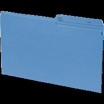 FILE FOLDER LEGAL 100/BOX BLUE 24007-02