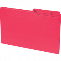 FILE FOLDER LEGAL 100/BOX RED 24007-03