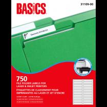 LASER LABEL FILE FOLDER WE 750/BOX