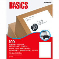 LABELS LASER BASICS LETTER 100/BOX 31335-00