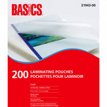 LAM POUCHES 3MIL LETTER 200/PK BASICS / FELLOWES
