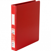 BINDER D-RING 1IN RED BASICS 35110-03 EXV252