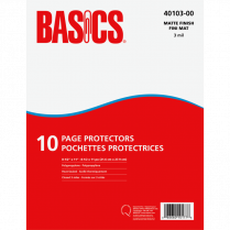 PAGE PROTECT HEAVY 10/PACK BASICS 3MIL MATTE