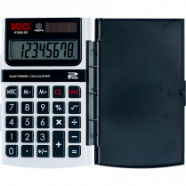 CALCULATOR BASICS DUAL POWER HAND HELD HARD CASE