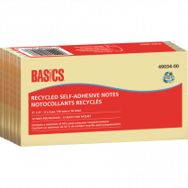 BASICS NOTES 3x3 YELLOW 12/PACK MULTIPAK MIN 30 PC