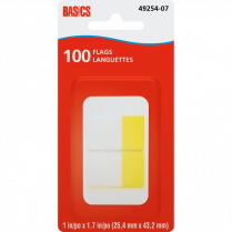 "BASICS FLAGS 1"" YELLOW 2PADS/PACKG"