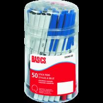 STICK PENS BASICS ASSORTED 50/TUB