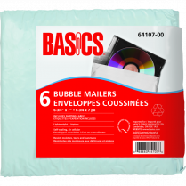 CD MAILER BUBBLE BASICS 6/PACK