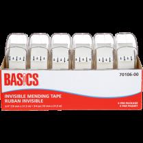 """TAPE MENDING W/DISP 3/4"""" 6/PACK BASICS 19MM X 21.5M"""