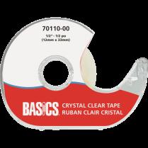 "TAPE BASICS 1/2"" W/DISPENS CR CRYSTAL CLEAR 70110-00"
