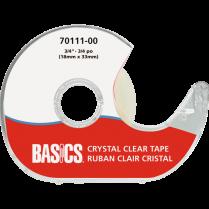 "TAPE BASICS 3/4"" W/DISPENS CR CRYSTAL CLEAR 70111-00"