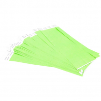"WRISTPASS SECURITY BANDS GREEN 100/PACKG 3/4""x10"""