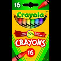 CRAYON WAX CRAYOLA 16/PACKG