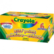 CRAYOLA KIDS PAINT JARS 6/PACK