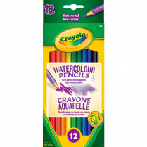 WATERCOLOUR PENCILS ASSORTED 12/ST