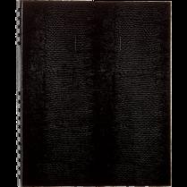 NOTEBOOK NOTEPRO 11x8-1/2 300P BLUELINE RULED BLACK
