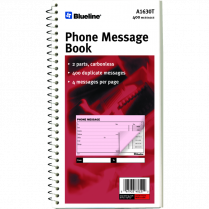 TELEPHONE MESSAGE BOOK NCR 400