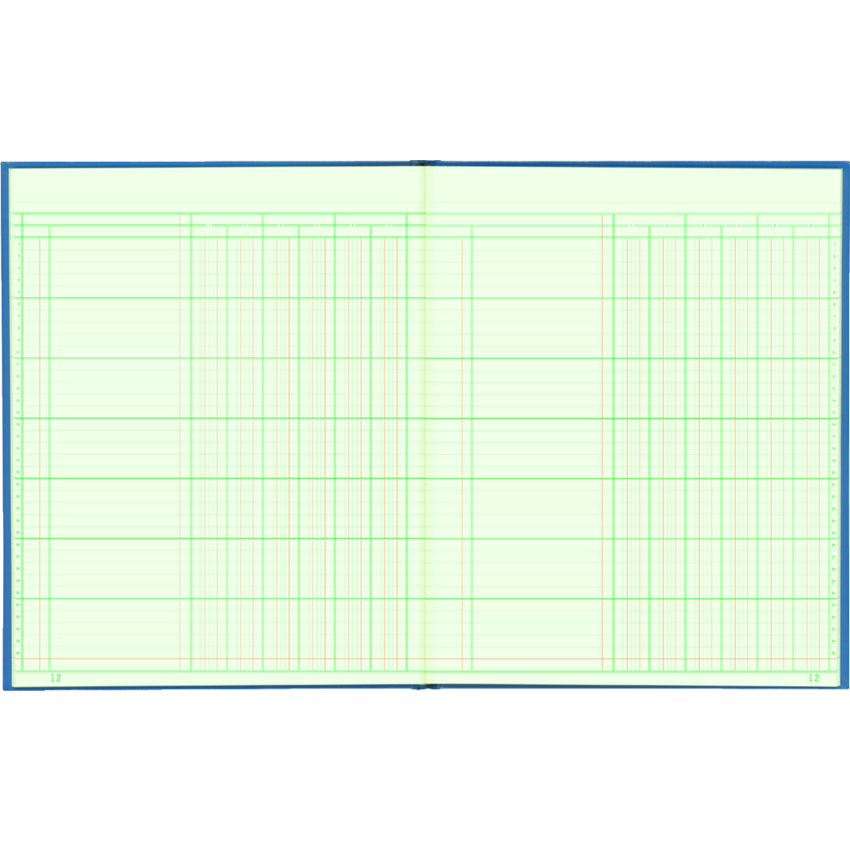 COLUMNAR BOOK 12x10 6COL 80PG