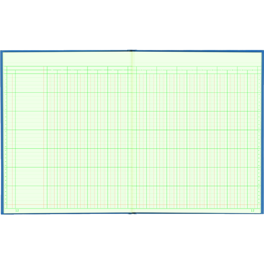 COLUMNAR BOOK 12x10 20COL 80PG
